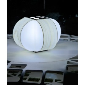 LZF Carambola M Small Dimmer Lampada Tavolo Bianco Avorio R.E