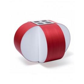 LZF Carambola M Small Dimmer Lampada Tavolo Rosso R.E