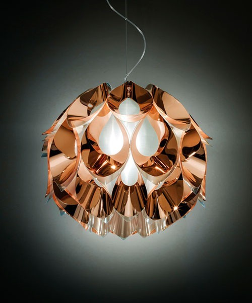 Slamp Flora Small Lampadario 1 Luce Copper R.E