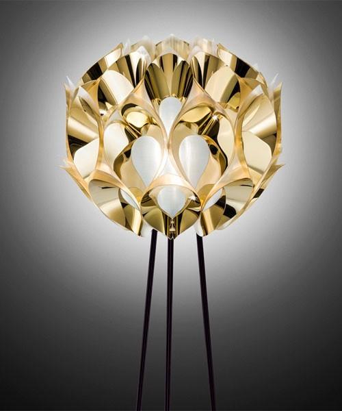 Slamp Flora Floor Lampada Terra 3 Luci Gold R.E