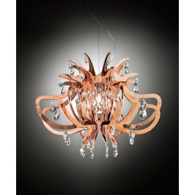Slamp Lillibet Lampadario 1 Luce Copper