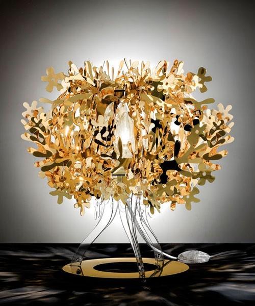 Slamp Fiorellina Lampada Tavolo Gold