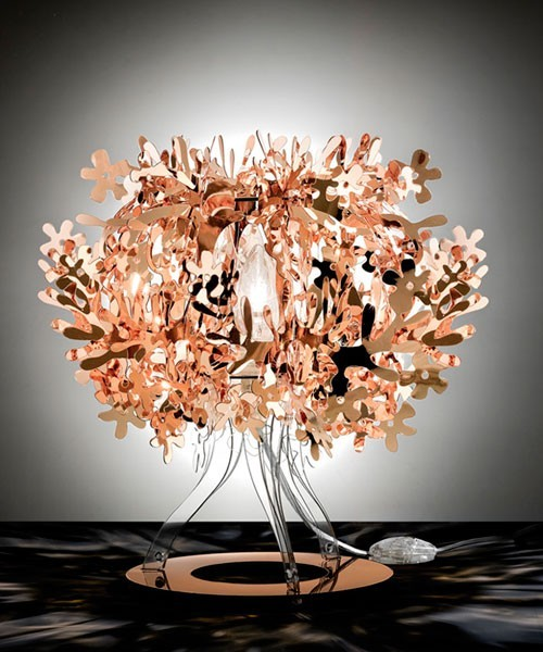 Slamp Fiorellina Lampada Tavolo Copper