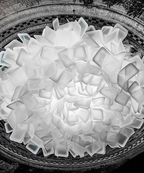 Slamp Clizia Large Lampada Soffitto/Parete 3 Luci R.E Bianco