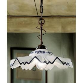 Ferroluce Cortina C244 SO Lampadario Rustico Ceramica 1 Luce