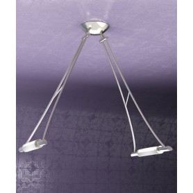 TOPLIGHT Triangle 1012/S2-NS Lampada Soffitto 2 Luci Nichel