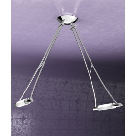 TOPLIGHT Triangle 1012/S2-CR Lampada Soffitto 2 Luci Cromo