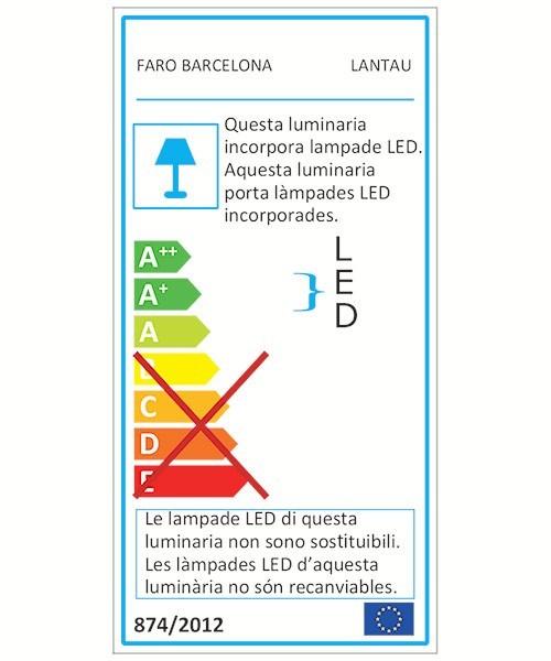 corpo in acciaio e pale in legno naturale Noce scuro Faro Barcelona Lantau 33463-Ventilatore con luce, Lampadina inclusa
