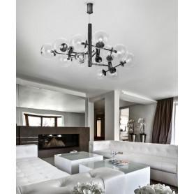 METAL LUX Global 262.800.03 Lampada da soffitto 16 Luci Nero