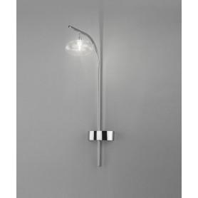 METAL LUX Dolce 260.901.01 Lampada da Parete 1 Luce Cromo