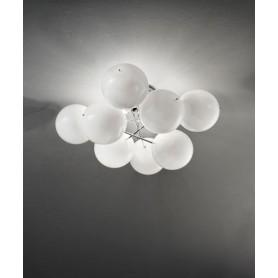 METAL LUX Atom 255.360.02 Plafoniera Moderna 4 Luci Bianco