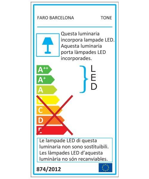 Faro Tone 71539 Applique Per Esterno A Led Grigio
