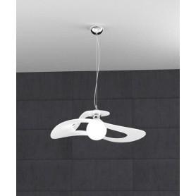 TOPLIGHT Surf 1145/S50 BI Lampadario Moderno 50cm Bianco