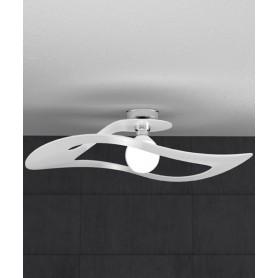 TOPLIGHT Surf 1145/PL70 BI Lampada da Soffitto 70cm Bianca