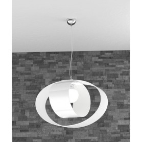 TOPLIGHT Lap 1146/S55 BI Lampadario Moderno 52cm Bianco