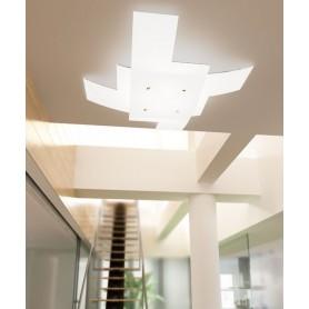 TOPLIGHT Tetris 1120/75 Lampada da Soffitto 75cm Vetro Bianco