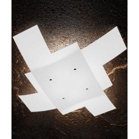 TOPLIGHT Tetris 1120/95 Lampada da Soffitto 95cm Vetro Bianco