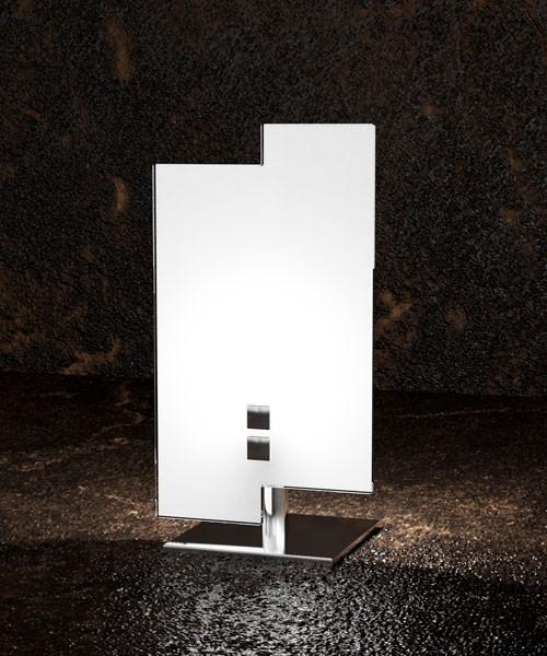 Toplight Tetris 1120 P Lampada Moderna Da Tavolo Vetro Bianc