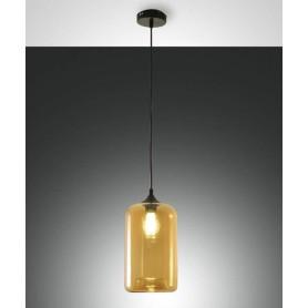 ABAS Silo 3491-40-125 Lampadario Moderno Ambra 1 Luce
