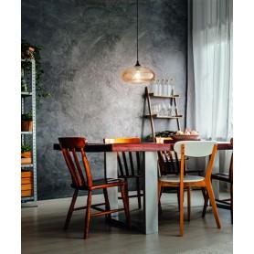 FABAS Ela 3489 Lampadario Moderno 1 Luce Ambra o Fumè