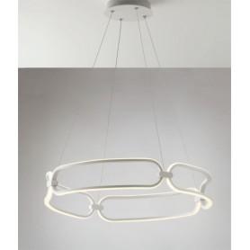 FAN EUROPE Infinity S60 Lampadario Moderno a LED Bianco Matto