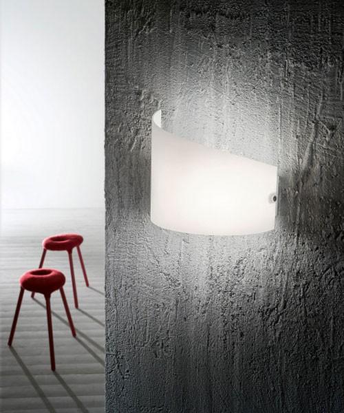 FABAS Moa 3249-21-102 Lampada Moderna da Parete Vetro Bianco