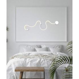 SIKREA Avana/B 2345 Lampada Moderna da Parete LED Bianco