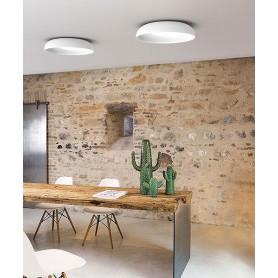 SIKREA Aloah PL45 Lampada Moderna da Soffitto a LED Vetro Bianco