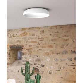 SIKREA Aloha PL60 Lampada Moderna da Soffitto a LED Vetro Bianco