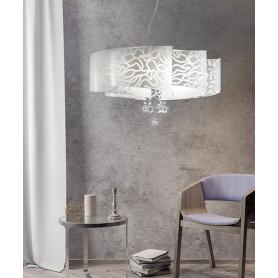 SIKREA Ventaglio/S 3751 Lampadario Moderno con Pendenti Cristallo