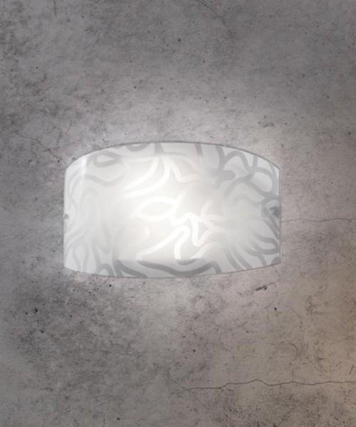 SIKREA Ventaglio/A 3746 Lampada Moderna da Parete in Vetro