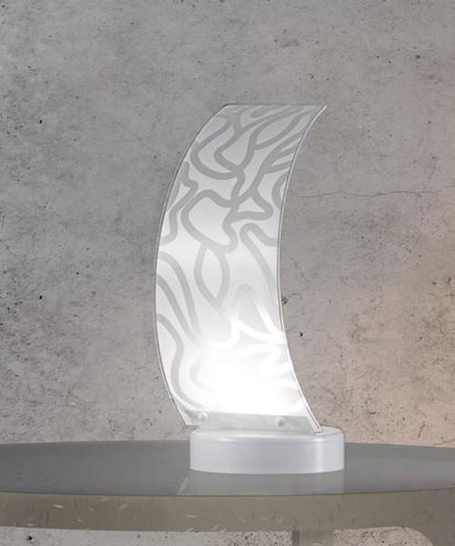 SIKREA Ventaglio/L 3747 Lampada Moderna da Tavolo in Vetro