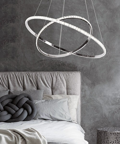 SIKREA Lux 2420 Lampadario Moderno a LED con Cristalli Asfour