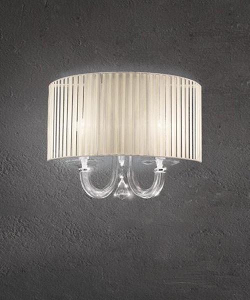 SIKREA Damasco/3 L 3318 Lampada parete in vetro cristallo 2 luci
