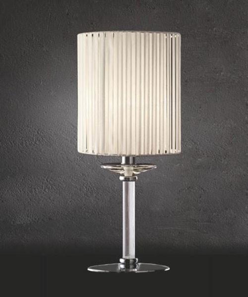 SIKREA Damasco/3 L Lampada da Tavolo in Vetro Cristallo 1 luce