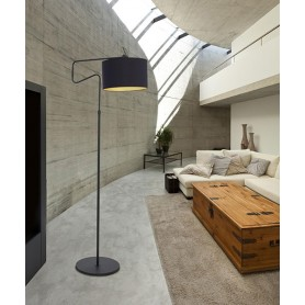 SIKREA Nicol/P 33557 Lampada Moderna da Terra Nero 1 Luce