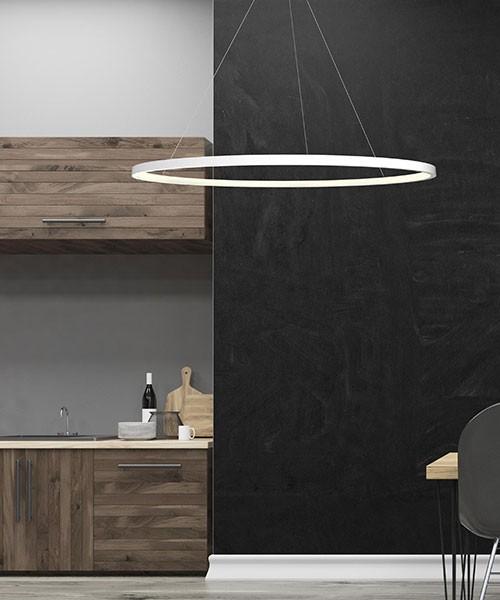SIKREA Oslo/B 2628 Lampadario Moderno a LED Tondo Bianco