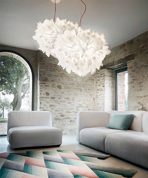 SLAMP Veli Suspension Foliage Lampadario Moderno 45cm