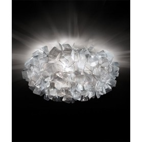 SLAMP Clizia Large Fumè Ceiling / Wall Lamp 3 LED Lights