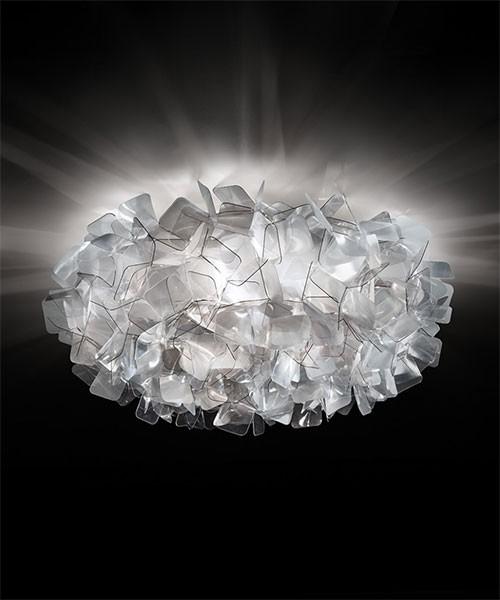 SLAMP Clizia Large Fumè Ceiling / Wall Lamp 3 LED Lights