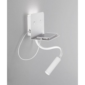 PERENZ Level 6636 B LC Modern Wall Lamp with USB Socket