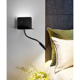 PERENZ Level 6636 N LC Lampada Moderna da Parete USB Nero