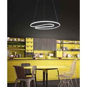 PERENZ Hug 6625 B LC Lampadario Moderno Bianco a LED
