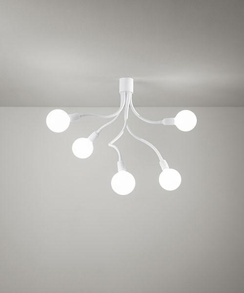 PERENZ Bulbo 6680-B Lampada Moderna da Soffitto a LED 5 Luci