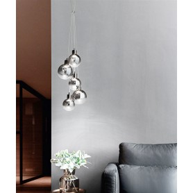 PERENZ Grappolo 6808 SP LC Modern Chandelier 5 LED Lights