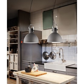 PERENZ Lumière 6066-GR Sandblasted Gray Industrial Chandelier