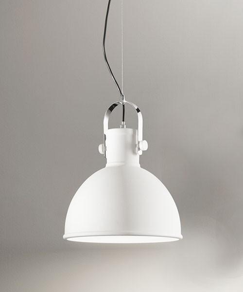 PERENZ Lumiere 6066-B Lampadario Industriale Bianco Sabbiato