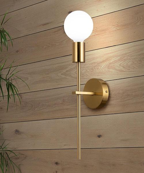 SIKREA Anna/A 2062 Modern Brass Wall Lamp