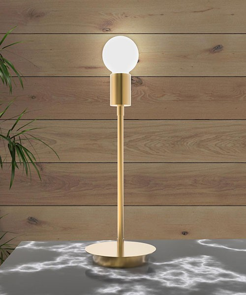 SIKREA Anna/L 2055 Modern Brass Table Lamp
