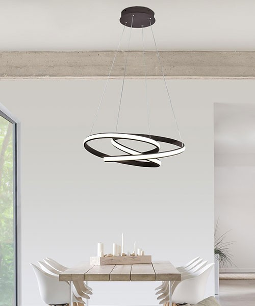 SIKREA Giove / C 2406 Modern Chandelier LED Coffee